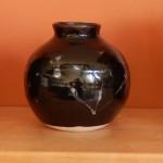 Black Electric Fired Vase
