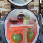 Kiln is opened when the pots are red hot